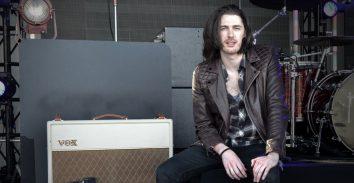 Hozieron stage sitting beside VOX amplifier